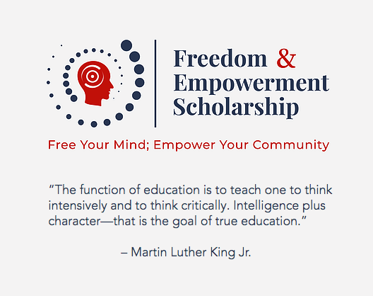 Pearson and the SCLC offer the new Freedom and Empowerment Scholarship Program