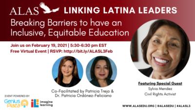 """Feb. 19: See Civil Rights Activist Sylvia Mendez at ALAS """"Linking Latina Leaders"""" Virtual Event"""