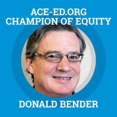Donald Bender, Champion of Equity